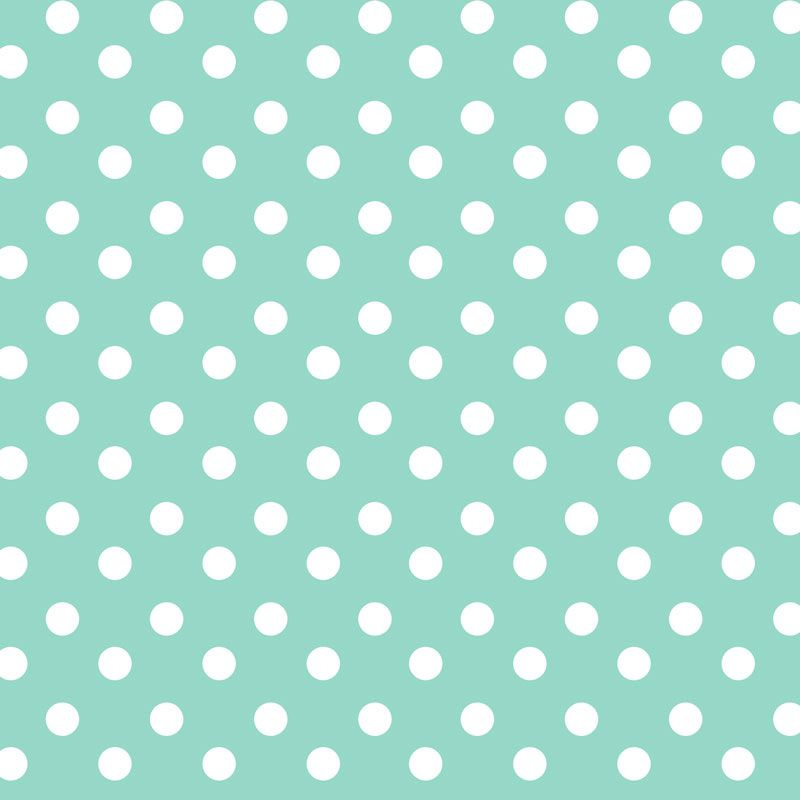 Tafelzeil - Nopjes mintgroen/wit