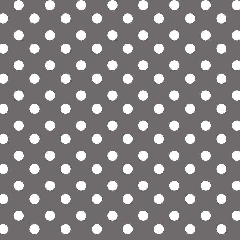 Tafelzeil - Nopjes grijs/wit