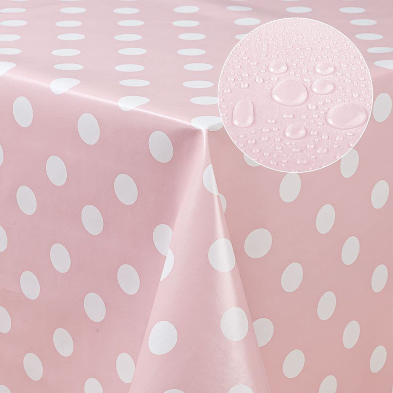 Tafelzeil - Roze/witte nop