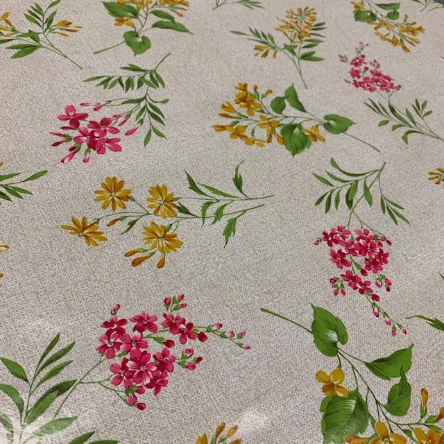 Tafelzeil extra breed (160cm) - Lente bloemen gekleurd