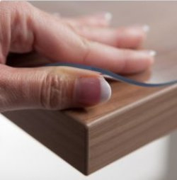 Doorzichtige tafelbeschermer 2.2 mm (40 t/m 70cm breed)