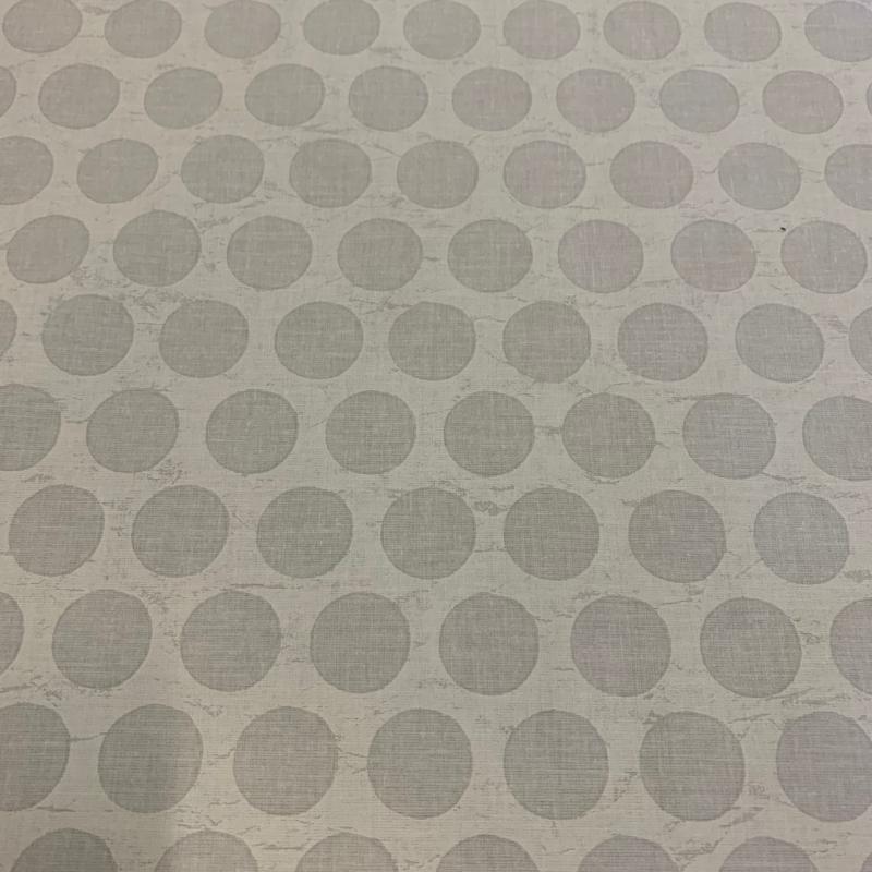 Gecoat tafellinnen/tafelkleed - White cracked circle