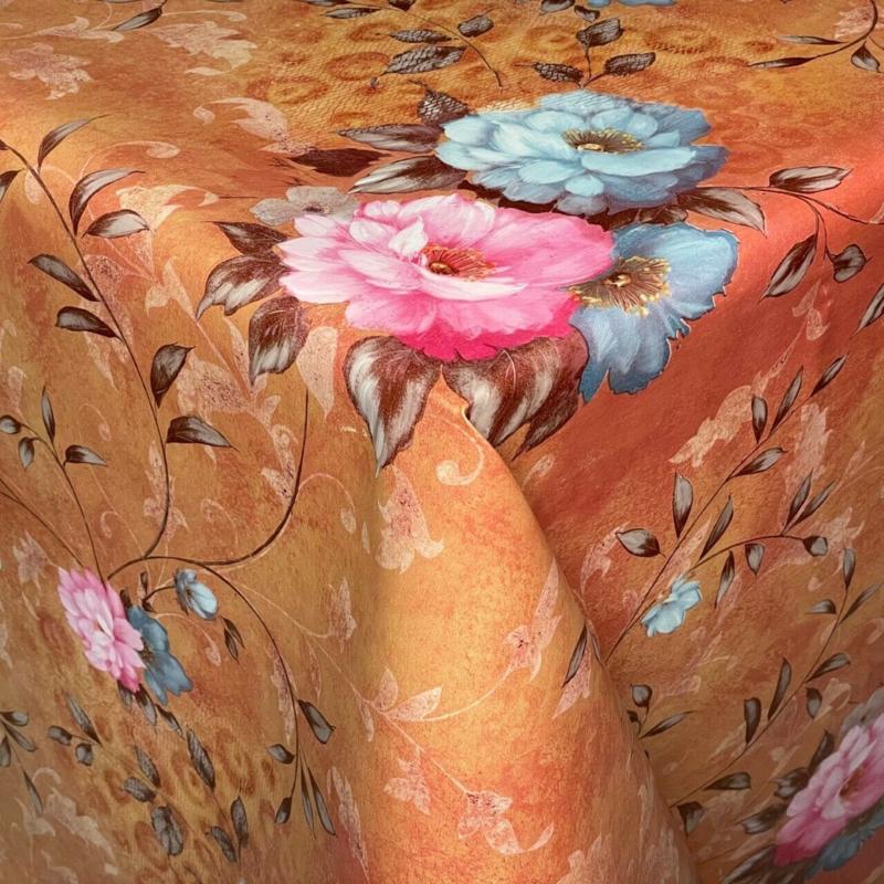 Tafelzeil - Flower bruin