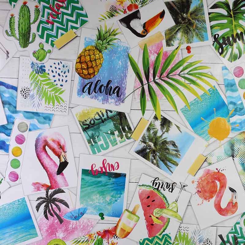 Tafelzeil - Aloha party flamingo