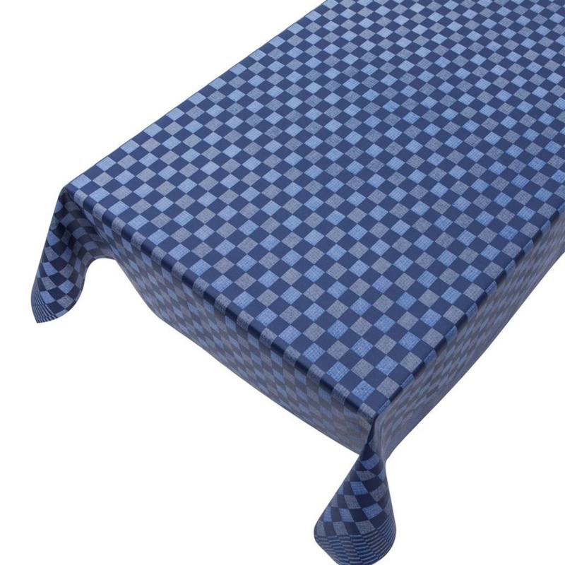 Gecoat tafellinnen -  Pompdoek blauw