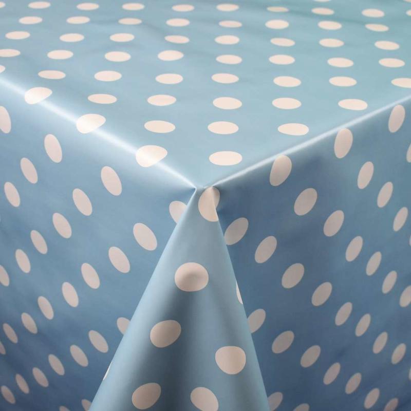 Tafelzeil - Nopjes blauw wit