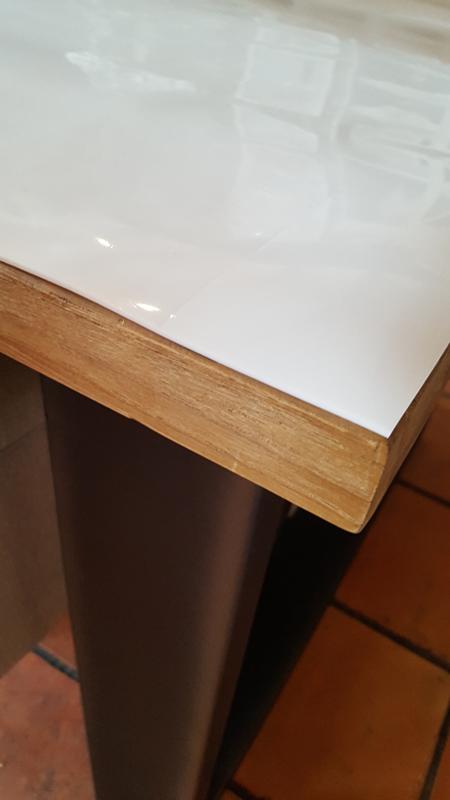 Tafelbeschermer - hoogglans wit tafelzeil (2.2mm), 91 t/m 120cm breed
