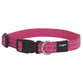SETPRIJS: RogZ roze halsband en politielijn, reflecterend