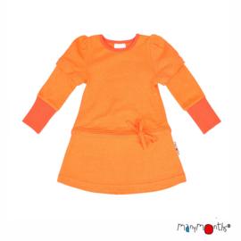 ManyMonths - Eco Hempies Long/Short Sleeve Strap Tunic, Tunic met afneembare mouwen. Meegroei maat - Nectarine