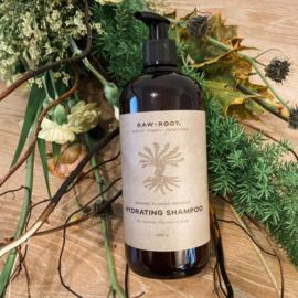 RAW ROOTs - Hydrating Shampoo voor normaal of droog haar, droge huid, schilfertjes of dreadlocks-  200 ml of 500 ml