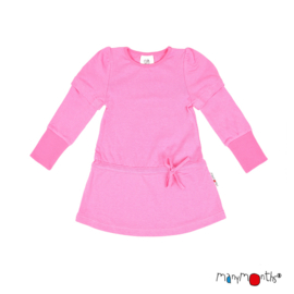 ManyMonths - Eco Hempies Long/Short Sleeve Strap Tunic, Tunic met afneembare mouwen. Meegroei maat - Pink Peony