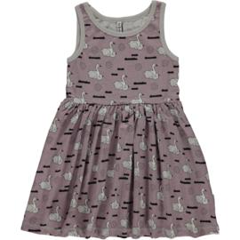 Maxomorra - Mouwloze jurk met zwierrokje - Swan baby pond, maat 74/80, 86/92, 98/104, 110/116, 134/140