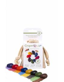 Crayon Rocks - Krijtjes in een ecru katoenen zakje - 8 stuks