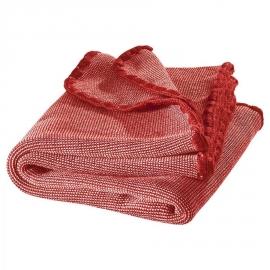 Disana - Deken in gebreide merinowol 100x80 cm - Rood melange