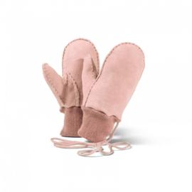 Fellhof - Wanten voor kind, in schapenvacht - Zacht roze, maat 2, 3, 4, 5