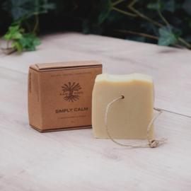 RAW ROOTs - Simply Calm Soap Bar - Handgemaakte zeep met verzachtende bloesem infusies voor haar en lichaam. Geschikt voor dreadlocks - 115 gr