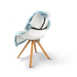 Fellhof - Elastische schapenvachthouder voor op stoel - KLEUR + WIT