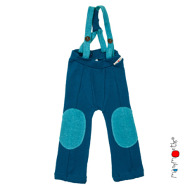 Manymonths - Hazel pants Salopette / Broek met afneembare riemen - meegroei 3 tem 18 maanden - Mykonos Waters