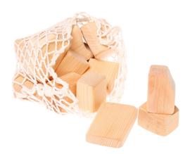 Grimm's - Grote houten blokken natuur, 15 stuks - 10020