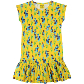 Duns - Cap sleeve dress met rokje - Forget me not, yellow - 110/116, 122/128, 134/140