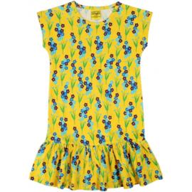 Duns - Cap sleeve dress met rokje - Forget me not, Yellow in 134/140