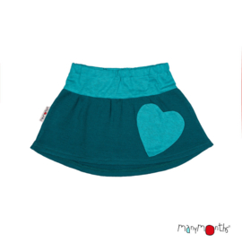 Manymonths - Heart Pocket Skirt - Rok in merinowol - Enthusiast/Lionheart (meegroei 9 tem 12 jaar) - Ocean Wave Blue