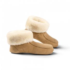 Fellhof - Pantoffels van schapenvacht - Lichtbruin