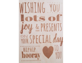 Beavers Woodland - Kaart - Wishing you lots of joy (Verjaardag / Feestdag)