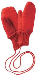 Disana - Wanten in gekookte wol - Rood - Maat 2 (10 cm) = Laatste paar