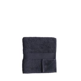 Bo Weevil - Handdoek biokatoen, antraciet - 50 x 100 cm