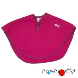Manymonths - Multi Cape in merino wol, groeit mee van babyleeftijd tot en met +/- 5 jaar - Lilac Rose with Violet Lotus