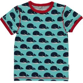 Maxomorra - T⁻shirt - Whale 74/80 LAATSTE STUK