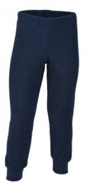 Engel Natur - Broek in merino wol badstof - Donkerblauw in 116 = Laatste stuk