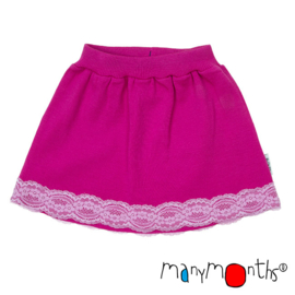 Manymonths - Princess skirt Unique Lace, Rok in merinowol - Lilac Rose