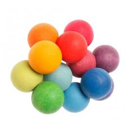 Grimm's - Grijpspeelgoed in hout - regenboogkleuren - 08121