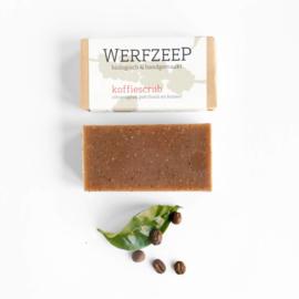 Werfzeep - Koffiescrub scrubzeep met citroengras, patchouli en kaneel - 100 gr