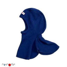 Manymonths - Elephant Hood bivakmuts in merino wol, meegroei maat - Jewel Blue