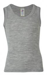 Engel Natur - Mouwloos hemd wol zijde - Lichtgrijs melange