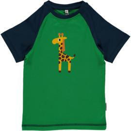 Maxomorra - T⁻shirt Print - Giraffe 74/80 LAATSTE STUK