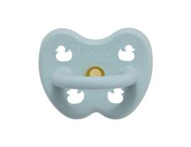 Hevea - Speen van natuurrubber, plasticvrij - Orthodontisch 0-3 maanden - Blauw