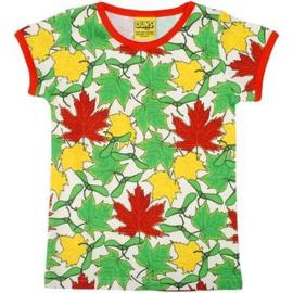 Duns - T-shirt Short sleeve - Maple Leaves - Last size: 140