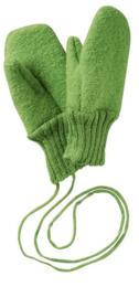 Disana - Wanten in gekookte wol - Groen - maat 1 (8 cm) = Laatste paar