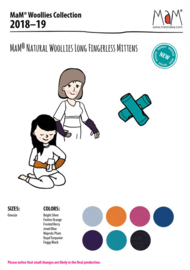 Manymonths MaM - Vingerloze handschoenen / Polswarmers - Festive Orange