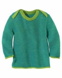 Disana - Gebreide melange trui - Groen Blauw melange