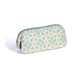 Keep Leaf - Tasje voor kleine accesoires, pennen of make-up, met waterafstotende lining  - Print Geo, 23 x 11,5 x 7,5 cm