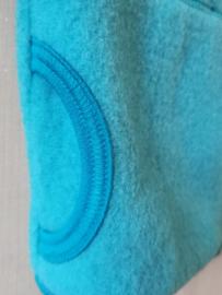 Pure Pure - Bodywarmer in wolfleece - Blauw in 110/116 of 122/128