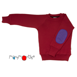 Manymonths - Trui Pullover, meegroei concept - Raspberry Red