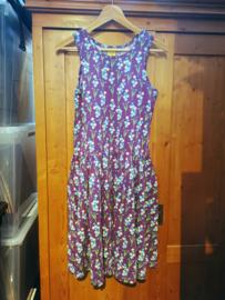 Duns - Mouwloze jurk met zwierrokje - Forget me not, Purple - Large 42/44