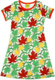 Duns -Jurk met korte mouwen - Maple Leaves