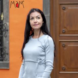 Manymonths MaM - Tunic / korte jurk in merinowol  - Bright Silver - L/XL = Laatste stuk
